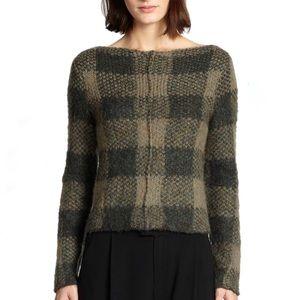 Rag & Bone Cammie plaid checkered olive sweater